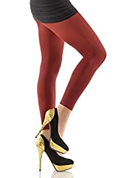 fxko Leggings glatt lang bordeaux 370 TB
