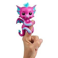WowWee 3583 Fingerlings Baby Dragon Sandy, Hot Pink