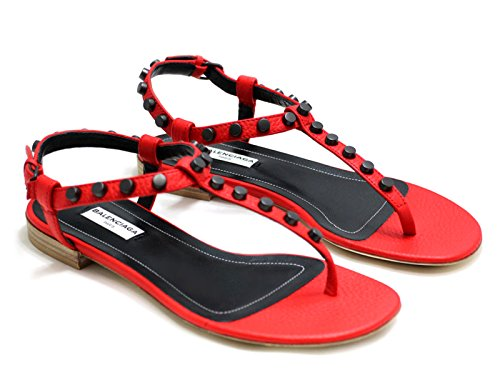 Sandali bassi Balenciaga in Pelle di vitello rosso - Codice modello: 410912 WAXB0 6513 - Taglia: 36 IT