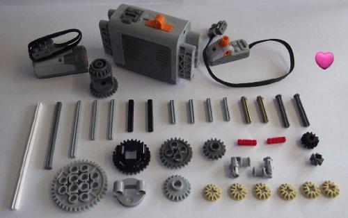 LEGO® TECHNIC 37-teiliges Motor-Set mit Zubehör. Dazu ein Lego® Herz -