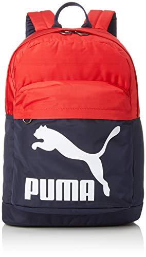PUMA Erwachsene Originals Backpack Rucksack, Peacoat-High Risk Red, OSFA