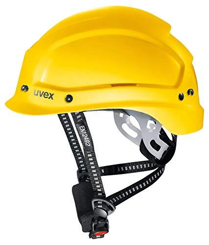 Uvex Pheos Alpine casco protettivo e da alpinismo EN 397e EN 12492–Casco di Protezione, da cantiere, lavoro eCasco da arrampicata, giallo