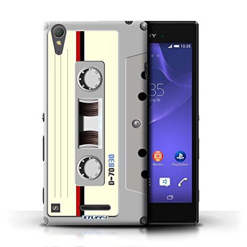 KOBALT® Hülle Case für Sony Xperia T3 | Kompaktkassette Entwurf | Retro Techik Kollektion Kompaktkassette