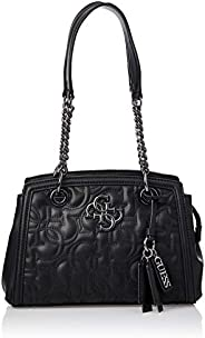 GUESS Women's New Wave Luxury Satchel, Black - VM74