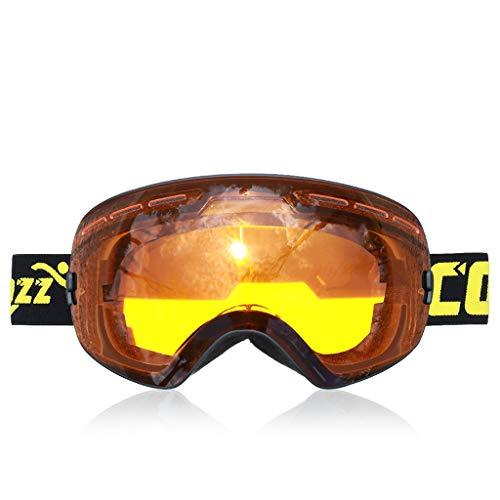 XY&CF-Ski glasses Skibrille Doppel Anti-Fog große sphärische Khika Myopie Klettern Brille Männer und Frauen Ausrüstung (Farbe : D)