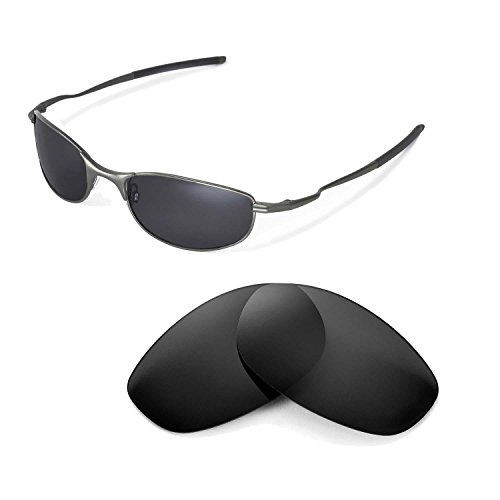 618c729c379 Walleva Replacement Lenses for Oakley Tightrope Sunglasses-Multiple Options  (Black - Polarized)