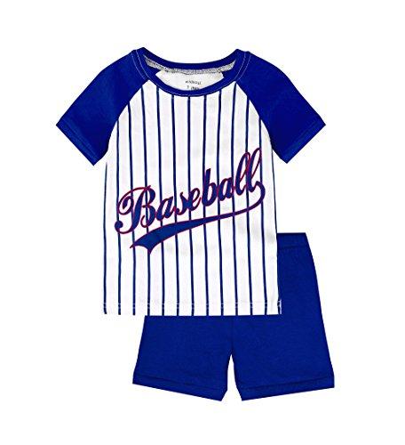 Skypiea&Co. Jungen Schlafanzug Gr. 36 EU, baseball (Baseball-jungen Schlafanzug)