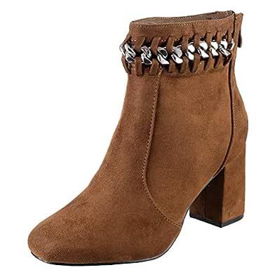 Metro Women's Brown Boots-4 UK (37 EU) (31-8756)