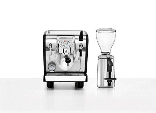 Combo set Nuova Simonelli Musica Espressomaschine mit Grinta AMMT Kaffeemühle verchromt