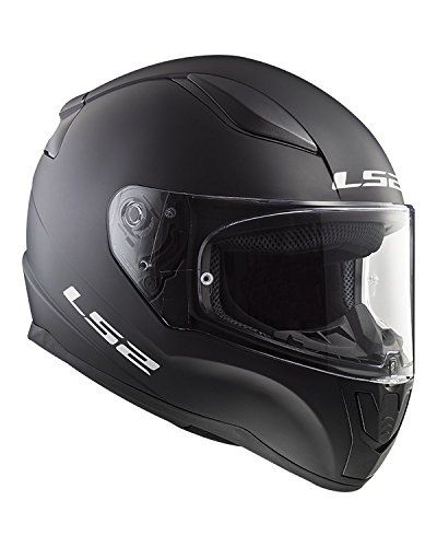 LS2 Casco Integral Rapid ff353, color negro mate, talla L