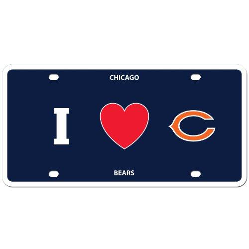 Siskiyou NFL Chicago Bears Styrol/Höhe: Teller I Heart Stil