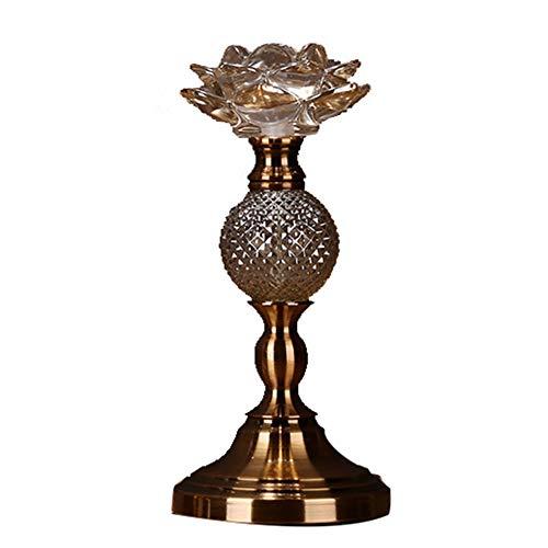 Bougeoirs Porte-Bougie Lotus en Verre De Cristal, Chandelier Chandelles Dîner De Mariage Mariage Chandelier Décoration De Table