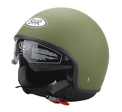 BHR 93249 Casco, Verde Militare Opaco, Taglia XS
