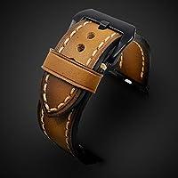 Apple Watch Strap Hand Stitch Vintage echtes Leder Apple Watch Band 38mm 42mm iwatch Band Gurt Herren Boyfriend Mann Geschenk Serie 3 2 1 personalisierte graviert Weihnachtsgeschenk Luxus Premium