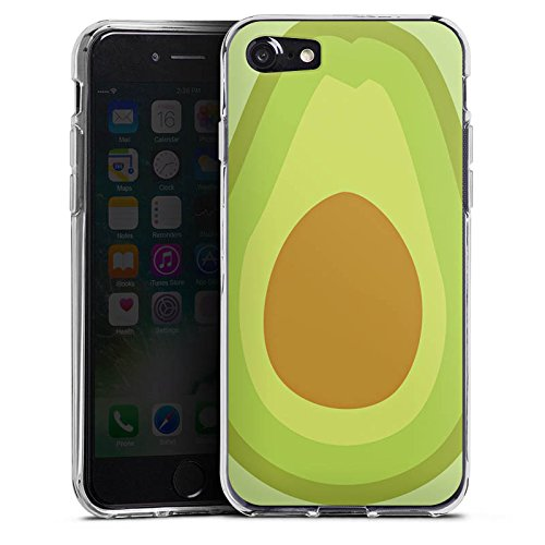 Apple iPhone SE Tasche Hülle Flip Case Avocado Frucht Vegan Silikon Case transparent