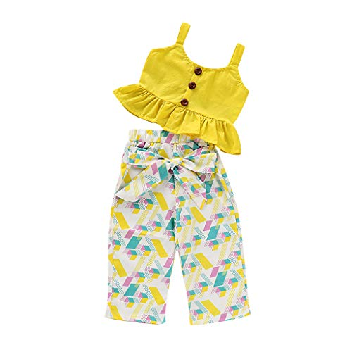 Innerternet baby bambina completini e coordinati cartone animato bimba magliette senza manica neonata stampa pantaloni 2 pezzi set 6-24 mesi