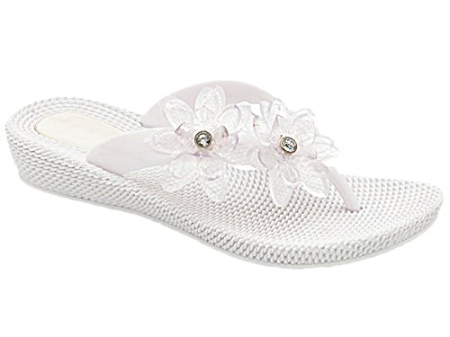 Foster Footwear - Retro aperto bambina donna White