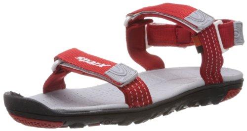 Sparx Men's Red Nylon Athletic & Outdoor Sandals  - 9 Uk