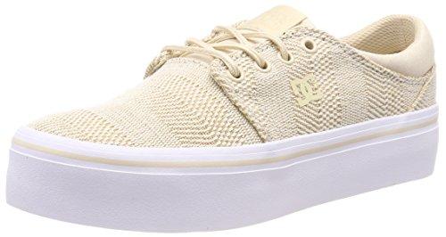 DC Shoes Trase Platform TX SE, Sneaker Donna, Beige (Taupe Tau), 39 EU
