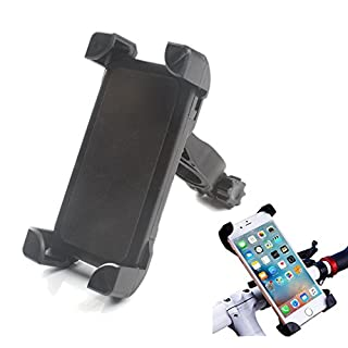 ANFTOP Mobile Phone Holder Bike Mount Cell Phone Holder Bicycle Handle bars for iphone Android Smartphone s6 edge X 5 6 6s 7 8 s8 plus and GPS Device Universal kit Black