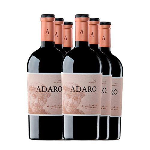 PRADOREY Adaro - Vino rosso - Vino spagnolo - Annata - Ribera del Duero-Vino d'autore - 100% Tempranillo - Vino che rende omaggio al fondatore della marca, Javier Cremades de Adaro-6 bottiglie-0,75 l