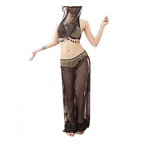 SODIAL(R) Frauen tragen Tanz Bauchtanz Kostueme mit Schleier (Sexy Tanz Tragen)
