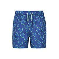Mountain Warehouse Patterned Boys Boardshorts - Easy Care Kids Swim Shorts, Lightweight Beach Shorts, 2 Cargo Pockets with Adjustable Waist -for Swimming, Surfing & Pool