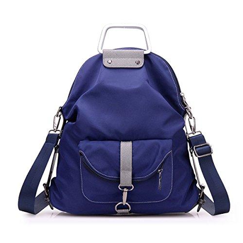 BUKUANG Oxford-Nylon Tragetasche Weibliche Schulter Diagonal Tragbare Mehrzweck Studenten Umhängetasche Hochschule Wind,Purple Blue