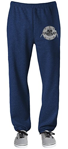Spider Skull Shield Relaxed Jersey Pants For Indoors & Outdoors Activities| 70% Cotton-30% Polyester| Super Lightweight| Premium Sportswear By Teezer Tee