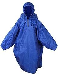 Cubierta De Mochila Protector Contra La Lluvia De Una Sola Pieza De Camping Poncho Impermeable Senderismo - Azul Real