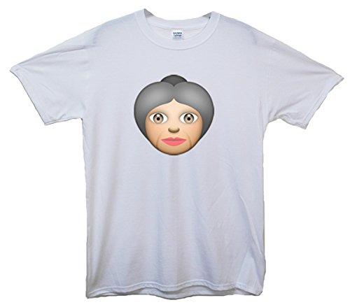 Old Woman Emoji T-Shirt Weiß