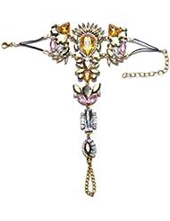 Befaith Bracelets en cristal brillant Bracelet cheville Bijoux au pied Mariage Sandales pieds nus Vêtements de plage