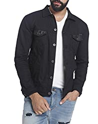 Jack & Jones Mens Cotton Jacket (1828806001_Black Denim_XX-Large)
