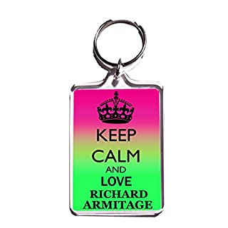 KEEP CALM AND LOVE RICHARD ARMITAGE KEYRING - Keychain …