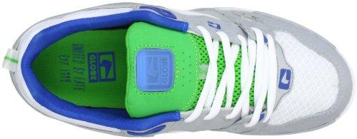 Globe Gbraid2, Baskets mode mixte adulte Blanc (White/Silver Grey/Moto Green 11721)