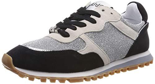 Liu jo shoes alexa-running, scarpe da ginnastica basse donna, multicolore (black/white 00054), 39 eu