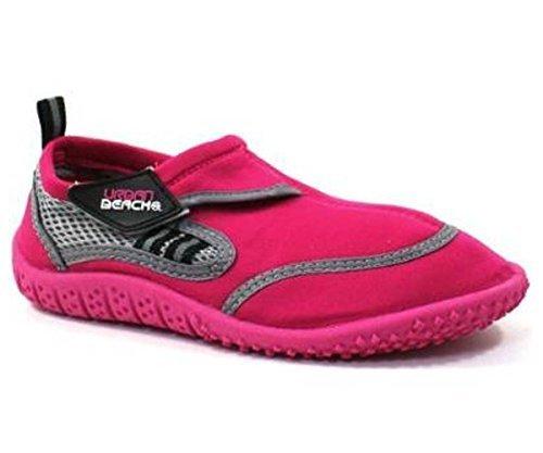 girls-berry-aqua-water-surf-beach-shoes-uk-12-eu-31-pink