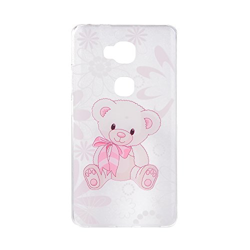 Huawei G8 Cover, CaseLover Custodia per Huawei G8 / GX8 Bella Stampa Modello Bumper Morbida TPU Silicone Flessibile Sottile Ultra Thin Slim Anti-Scratch Antigraffio Back Cover per Carina Ragazza - I am a cute bear doll / Io sono una bambola simpatico orso / Gift