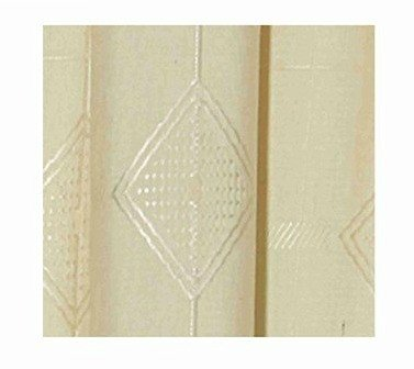 Love2Sleep JACQUARD LINED THERMAL PENCIL PLEAT PAIR OF CURTAINS, CREAM, 90 X 90 – GENEVA