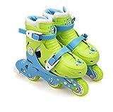 Rollers évolutifs 2 en 1 Funbee - Position patins ou rollers par système de visserie - Taille ajustable (27-30) - Enfants dès 3 ans - D'arpèje - OFUN084-G