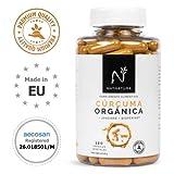 Cúrcuma orgánica + Jengibre + Pimienta negra. Suplemento alimenticio a base de cúrcuma ecológica...