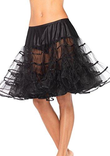 LEG AVENUE 83043 - Mittleren länge Petticoat, Einheitsgröße (Schwarz)