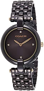 Coach Women's Chocolate Dial Ionic Plated Brown Steel Watch - 1450