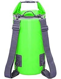 VLUNT Bolsas Estancas Mochila, Bolsa Impermeable de Alta Calidad para Kayak, Playa, Rafting, Pesca, Escalada y Camping - Verde, 10L