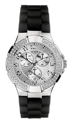 Guess I11040L1 - Reloj analógico de Cuarzo para Mujer con Correa de Resina, Color Negro