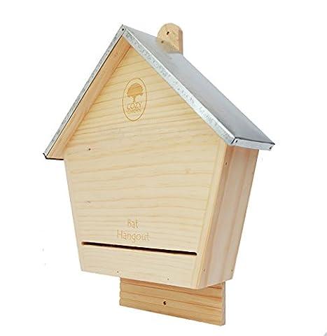 CozyGarden High Quality Bat House,Bat Box, Bat Nesting Box - Solid Fur Timber Construction with Tin Roof.