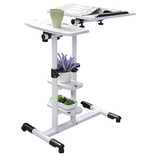 Hsrg tavolo multiuso regolabile in altezza multifunzione, tavolo divano, scrivania portatile pieghevole per laptop, con carrello porta laptop