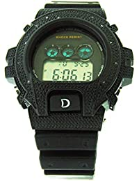 New Hot Diamond Reloj King Master Deportes G-Shock Style 6900 Negro Carcasa Digital