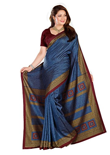 Kavvya Fashion Sky Blue Printed Pure Mysore Silk Saree