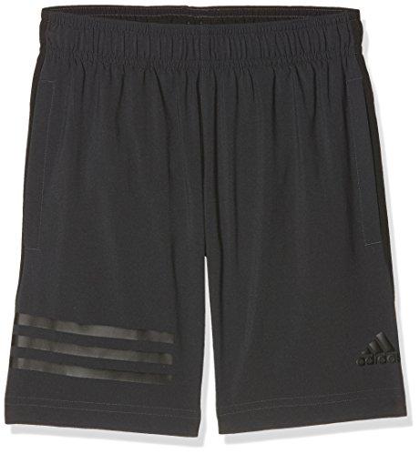 adidas Jungen Training Woven 3-Streifen Shorts, Carbon/Black, 152